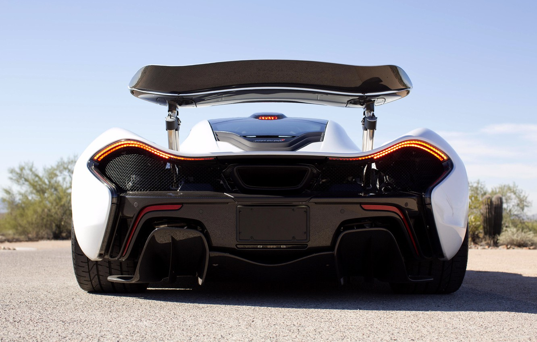Photo wallpaper McLaren, McLaren, Hypercar, Back, Spoiler, P1