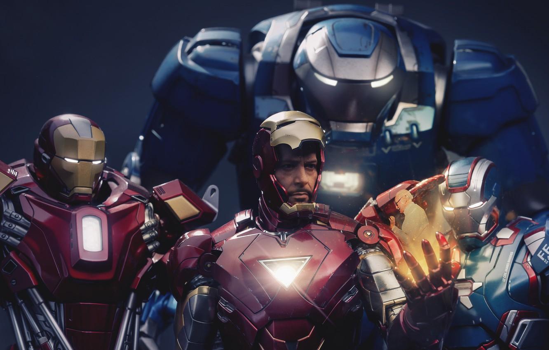 Photo wallpaper Iron Man, Marvel, RED, Tony Stark, Film