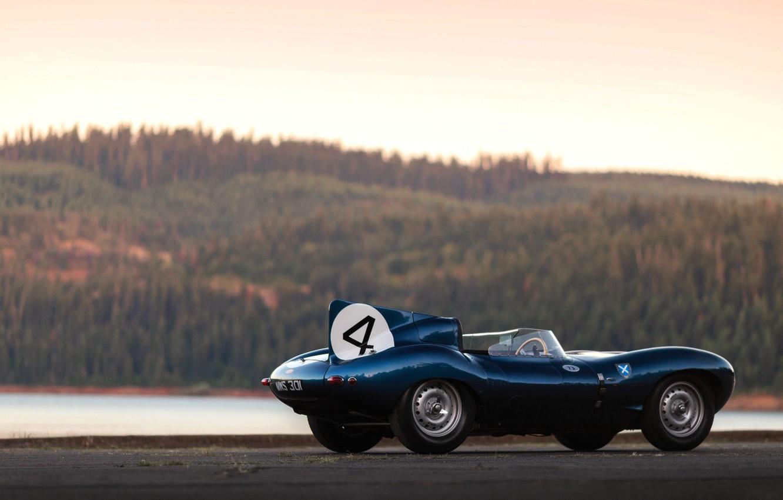 Photo wallpaper Retro, Sport, Car, Jaguar D-Type