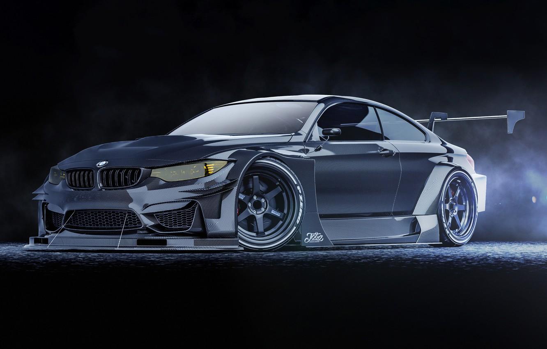 Photo wallpaper Auto, BMW, Machine, Rendering, Transport & Vehicles, Javier Oquendo, by Javier Oquendo, BMW M4 DTM