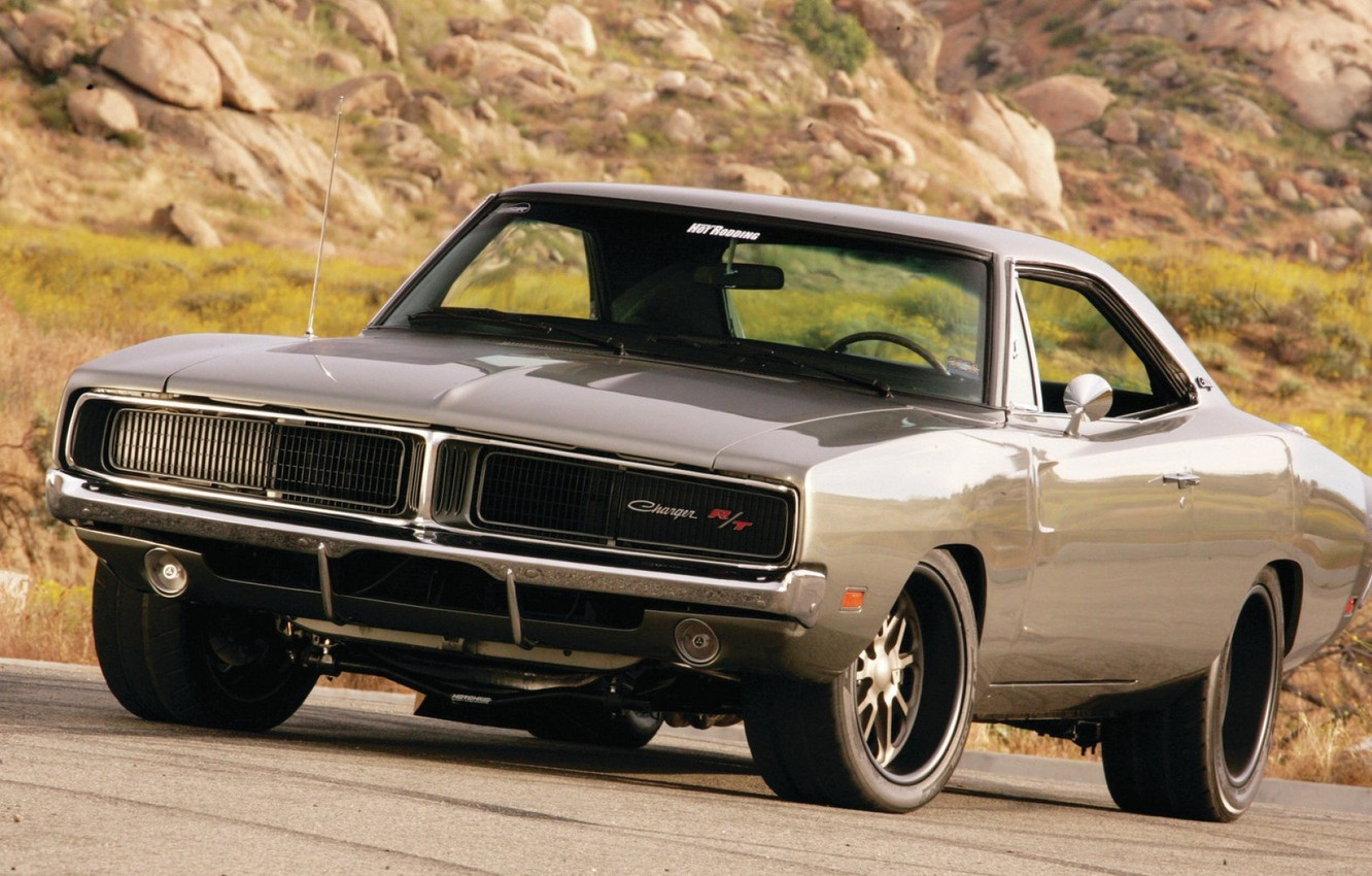 Photo wallpaper Muscle, Dodge, Classic, Charger R/T