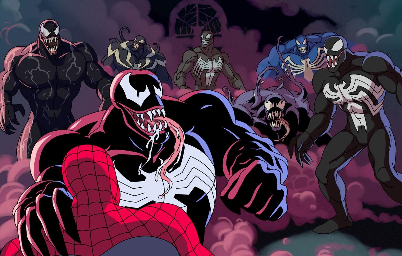 Photo wallpaper spider-man, venom, MARVEL, venom, venom verse