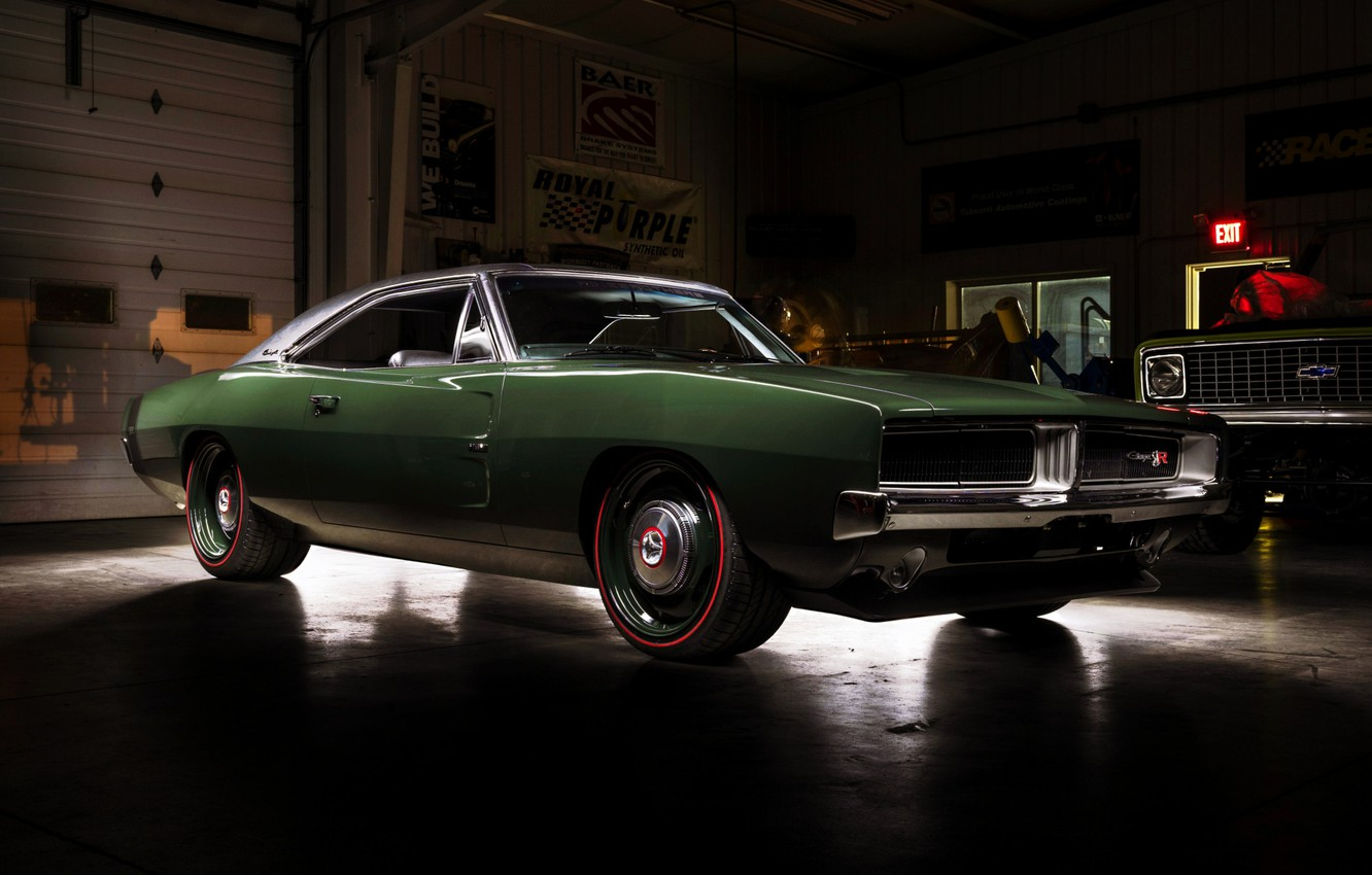 Photo wallpaper Dodge, Classic, Charger, Dodge Charger, Muscle car, Hemi, Garage