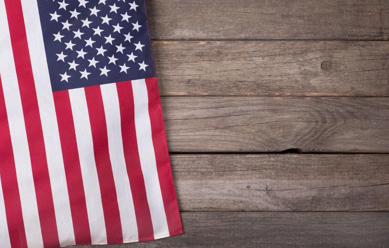 Photo wallpaper red, USA, blue, stars, flag