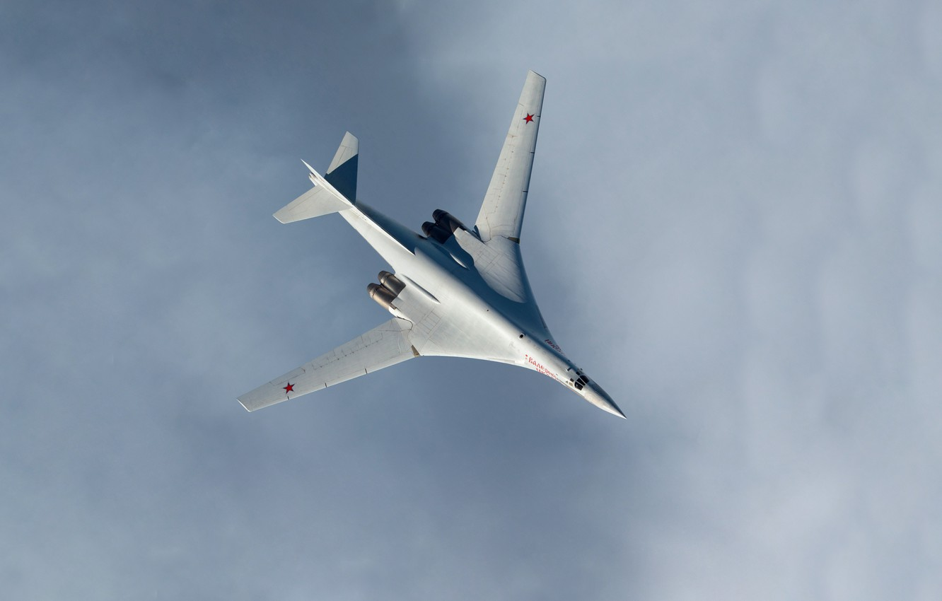 Photo wallpaper Swan, The plane, Flight, USSR, Russia, Aviation, The view from the top, BBC, Bomber, Tupolev, …