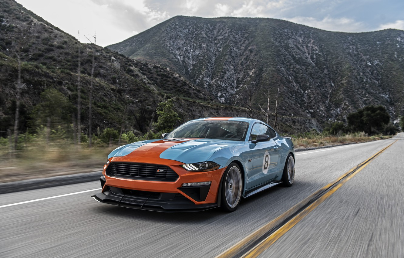 Photo wallpaper Mustang, Ford, Roush, Performance Stage 3