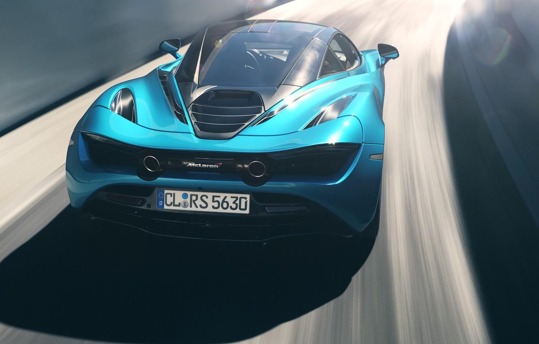Photo wallpaper Auto, Blue, Machine, Render, Supercar, Rendering, Sports car, Mclaren, McLaren 720S, Colorsponge Carlos, CL-RS5630, by …