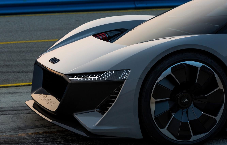 Photo wallpaper grey, Audi, 2018, the front part, PB18 e-tron Concept
