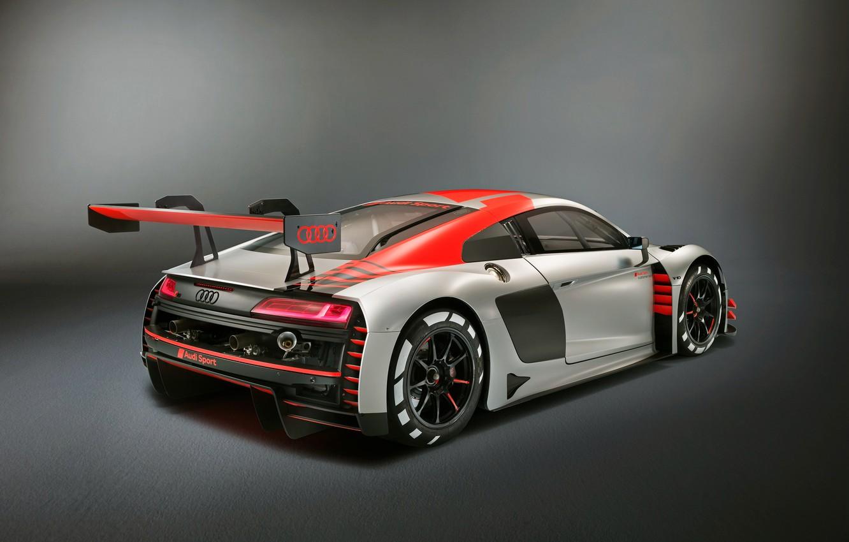 Photo wallpaper racing car, Audi R8, rear view, LMS, 2019