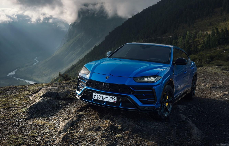 Photo wallpaper blue, Lamborghini, Lamborghini, urus