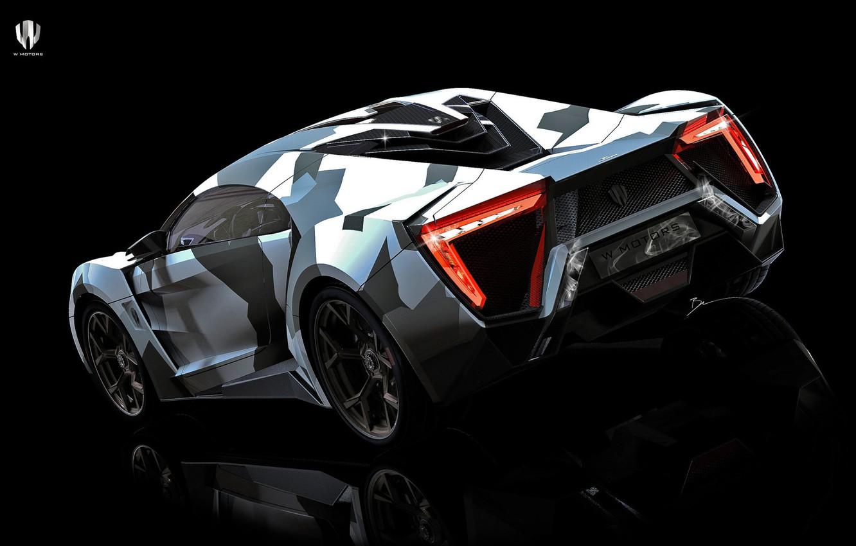 Photo wallpaper Auto, Rendering, Supercar, Concept Art, Sports car, SuperSport, Lykan, Transport & Vehicles, Benoit Fraylon, by …