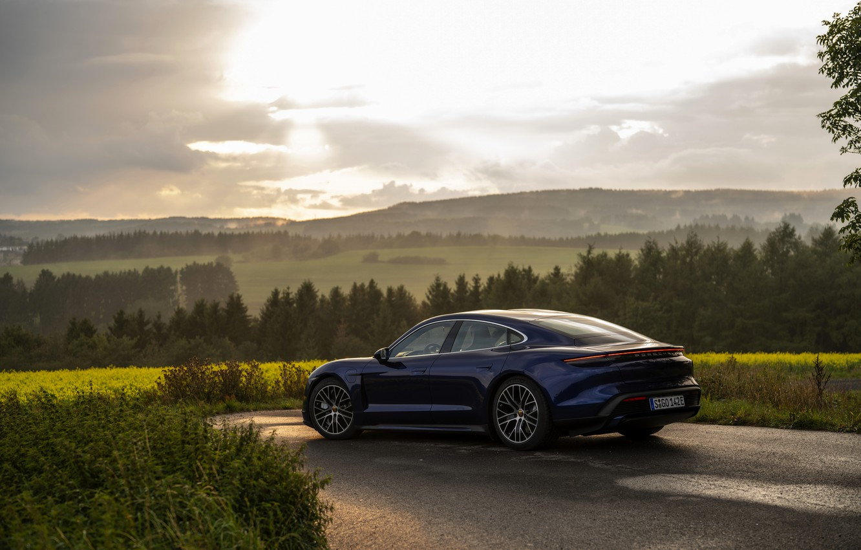 Photo wallpaper Porsche, Turbo, electric, 2020, Taycan