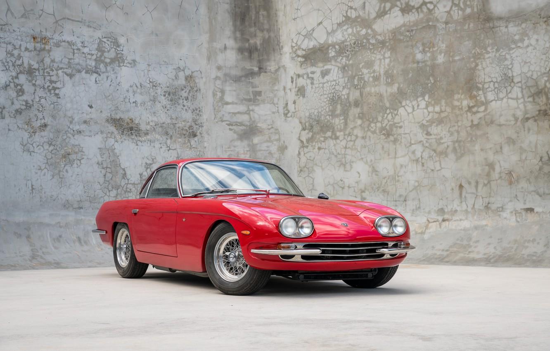 Photo wallpaper Red, Classic, Lamborghini 400GT
