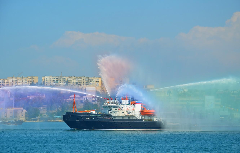 Photo wallpaper tug, lifeguard, miner, Sevastopol, Navy day
