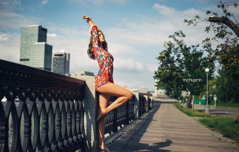 Photo wallpaper Girl, dress, legs, Disha Shemetova, Maksim Chuprin