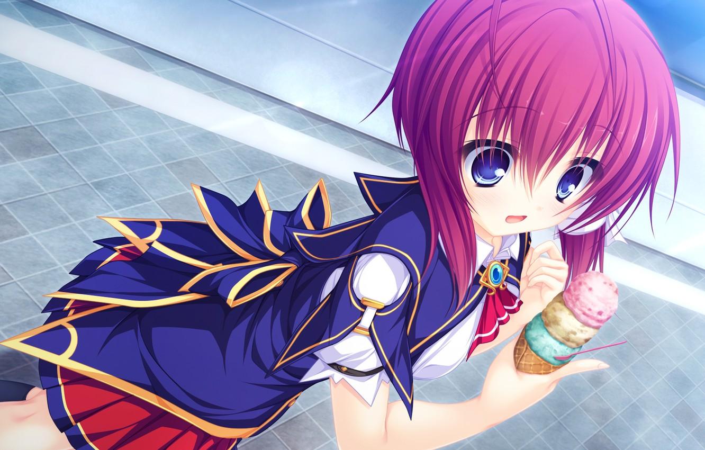 Photo wallpaper girl, ice cream, Justy×Nasty ~Maou Hajimemashita~, Justy×Nasty:Maou Hajimemashita
