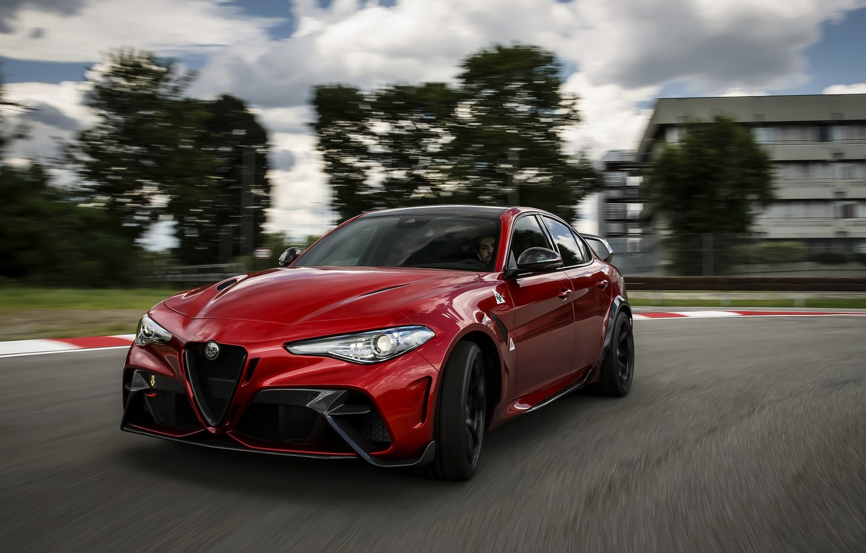 Photo wallpaper Alfa Romeo, on the track, Giulia, GTAm, 2020, Gran Turismo Alleggerita changed