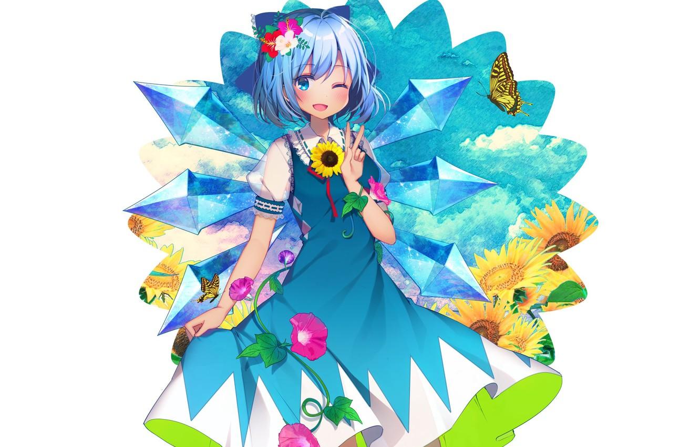 Photo wallpaper flowers, art, girl, Touhou, Touhou, Touhou