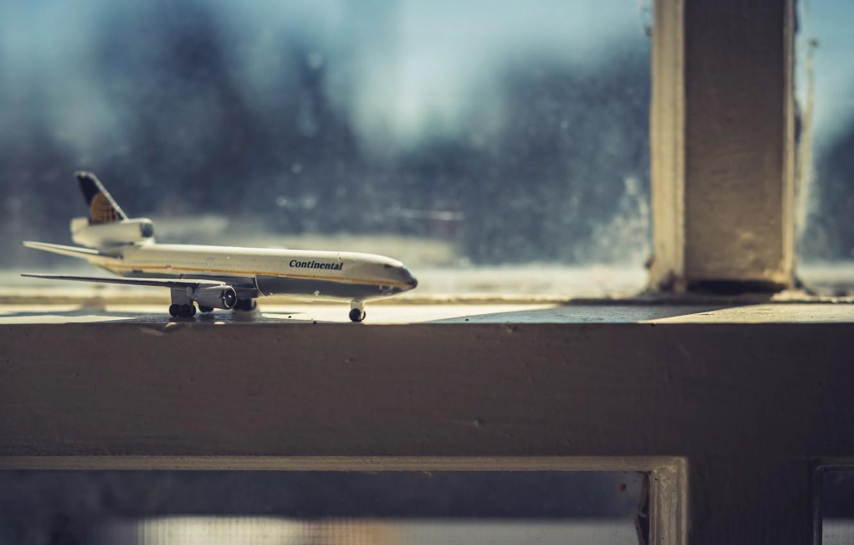 Photo wallpaper background, window, the plane