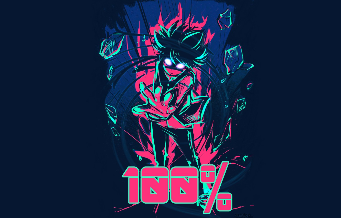 Wallpaper Power Guy Mob Psycho 100 Kageyama Shigeo Mob