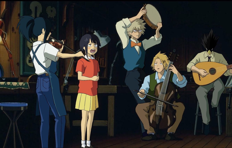 Photo wallpaper music, characters, My Hero Academia, Boku No Hero Academy, My Hero Academy