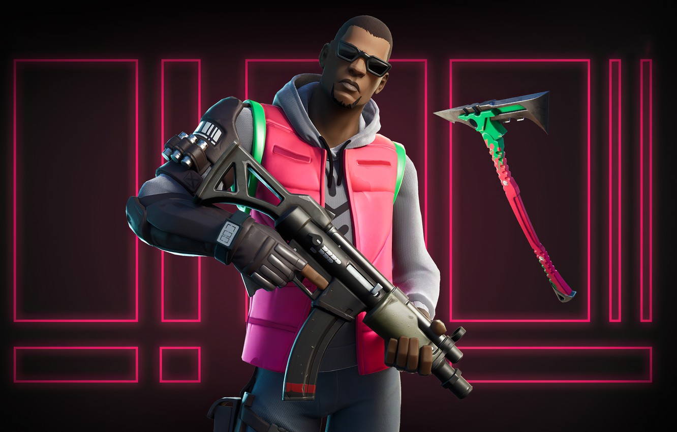 Wallpaper Weapons Background Neon Guy Fortnite Images For Desktop Section Igry Download