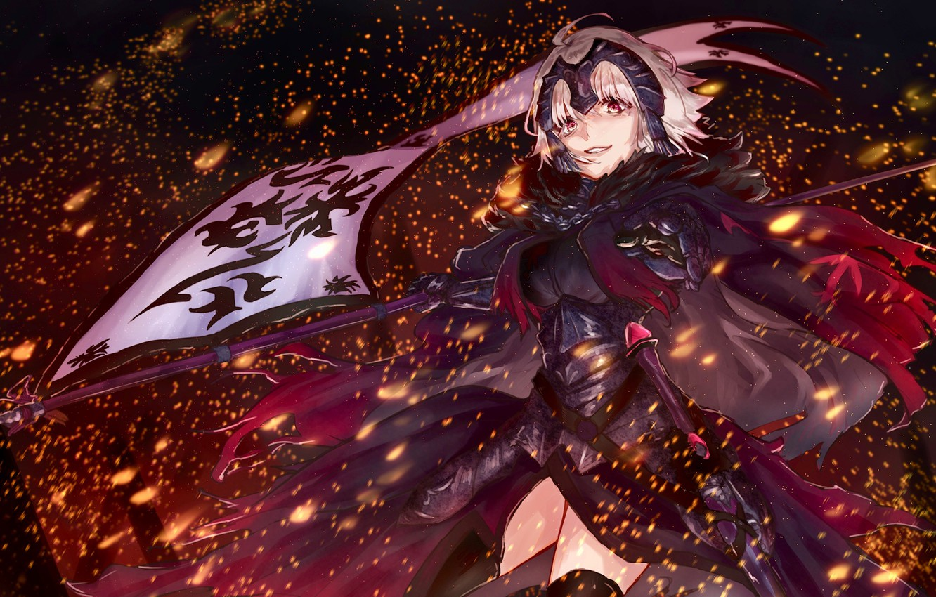 Photo wallpaper girl, weapons, battle, Fate