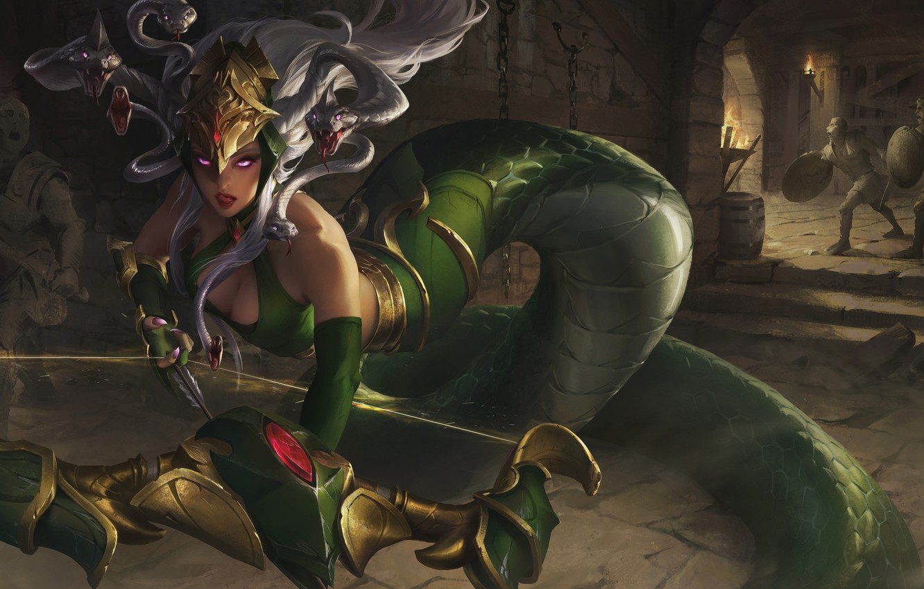 Photo wallpaper the game, bow, fantasy, art, Medusa, XiaoGuang Sun, Legend of Ace, Legend of Ace - …