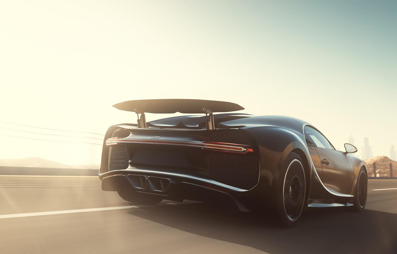 Photo wallpaper Auto, Machine, Bugatti, Sports car, Forza Motorsport, Chiron, Game Art, Forza Motorsport 7, Bugatti Chiron, …