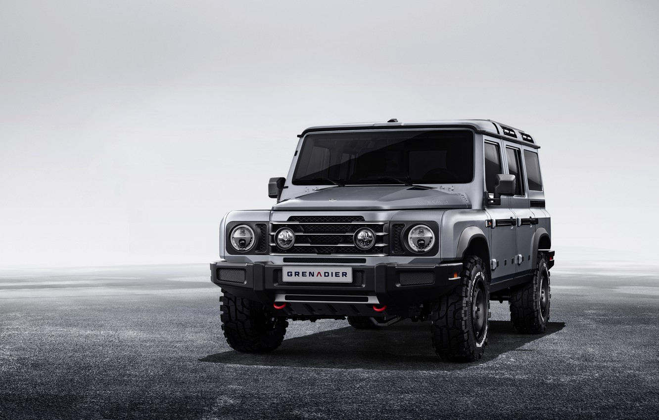 Photo wallpaper grey, background, SUV, prototype, Grenadier, before, Ineos