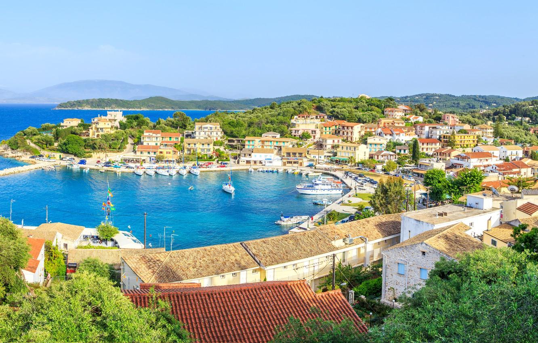 Photo wallpaper sea, sea, Greece, greece, corfu, Corfu, avlaki