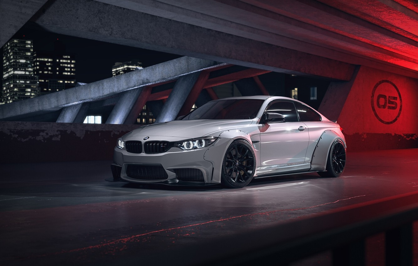 Photo wallpaper Auto, White, Machine, Car, Car, Rendering, BMW M4, Transport & Vehicles, Togrul Hasanov, by Togrul …