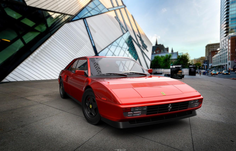 Photo wallpaper Red, Auto, Machine, Ferrari, 1980, Rendering, Mondial, by Mikhail Nikolaev, Mikhail Nikolaev, Ferrari Mondial 8 …