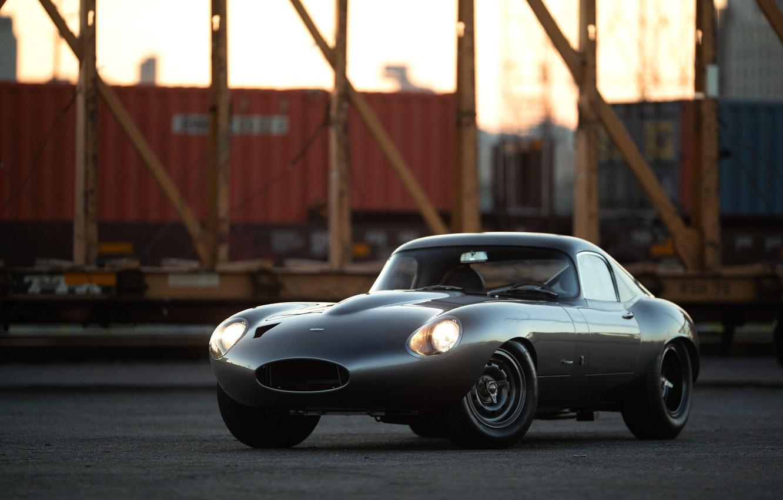 Photo wallpaper Jaguar E-Type, Coupe, Sports car