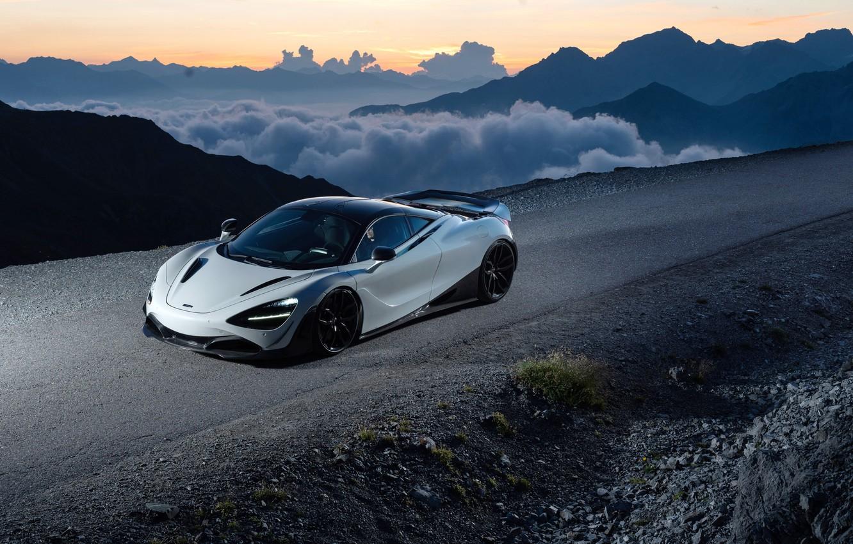 Photo wallpaper sunset, McLaren, supercar, 2018, Novitec, 720S