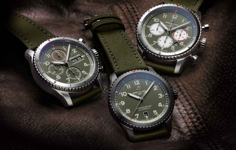 Photo wallpaper Breitling, Swiss Luxury Watches, Swiss wrist watches luxury, analog watch, Breitling, Aviator 8 B01 Chronograph …
