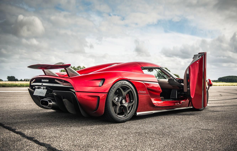 Photo wallpaper Red, Koenigsegg, Supercar, Regera