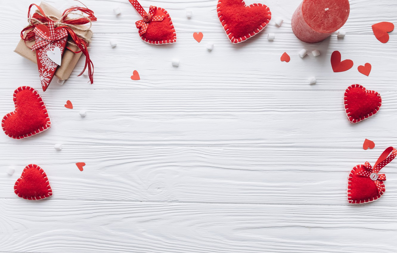 Photo wallpaper love, gift, heart, hearts, red, love, heart, wood, romantic, valentine's day, gift