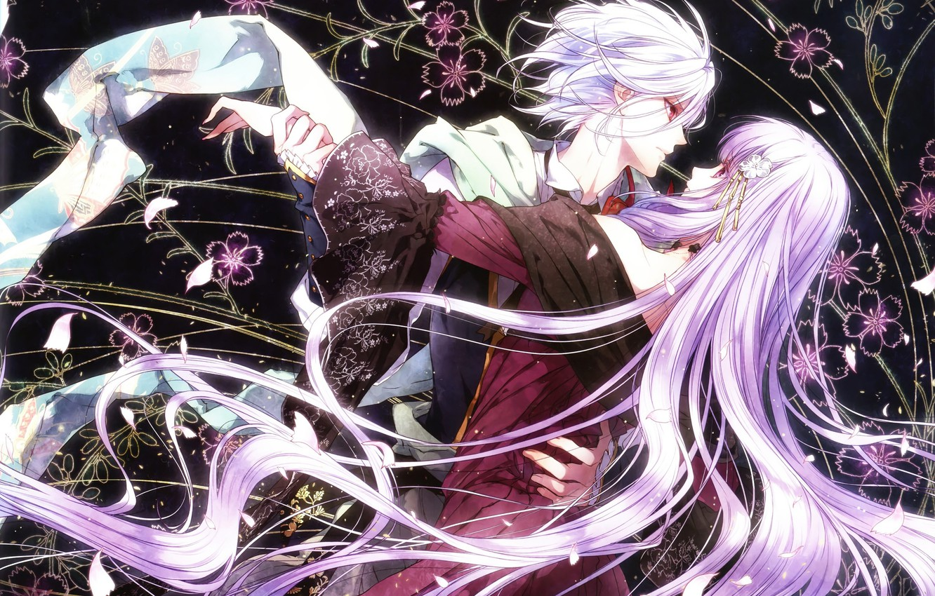 Photo wallpaper the game, anime, two, Queen of the Flowers