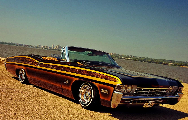 Photo wallpaper Impala, Lowrider, Custom, Low, 1968 Year