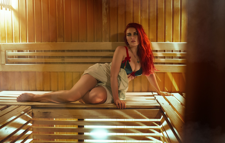 Photo wallpaper girl, model, bath, cosplay, Triss Merigold, Triss Merigold, Triss, cosplay model