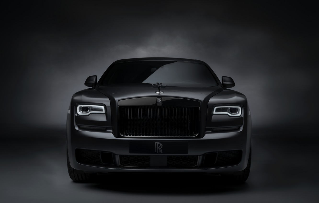 Photo wallpaper Rolls-Royce, Ghost, front view, Black Badge, 2019