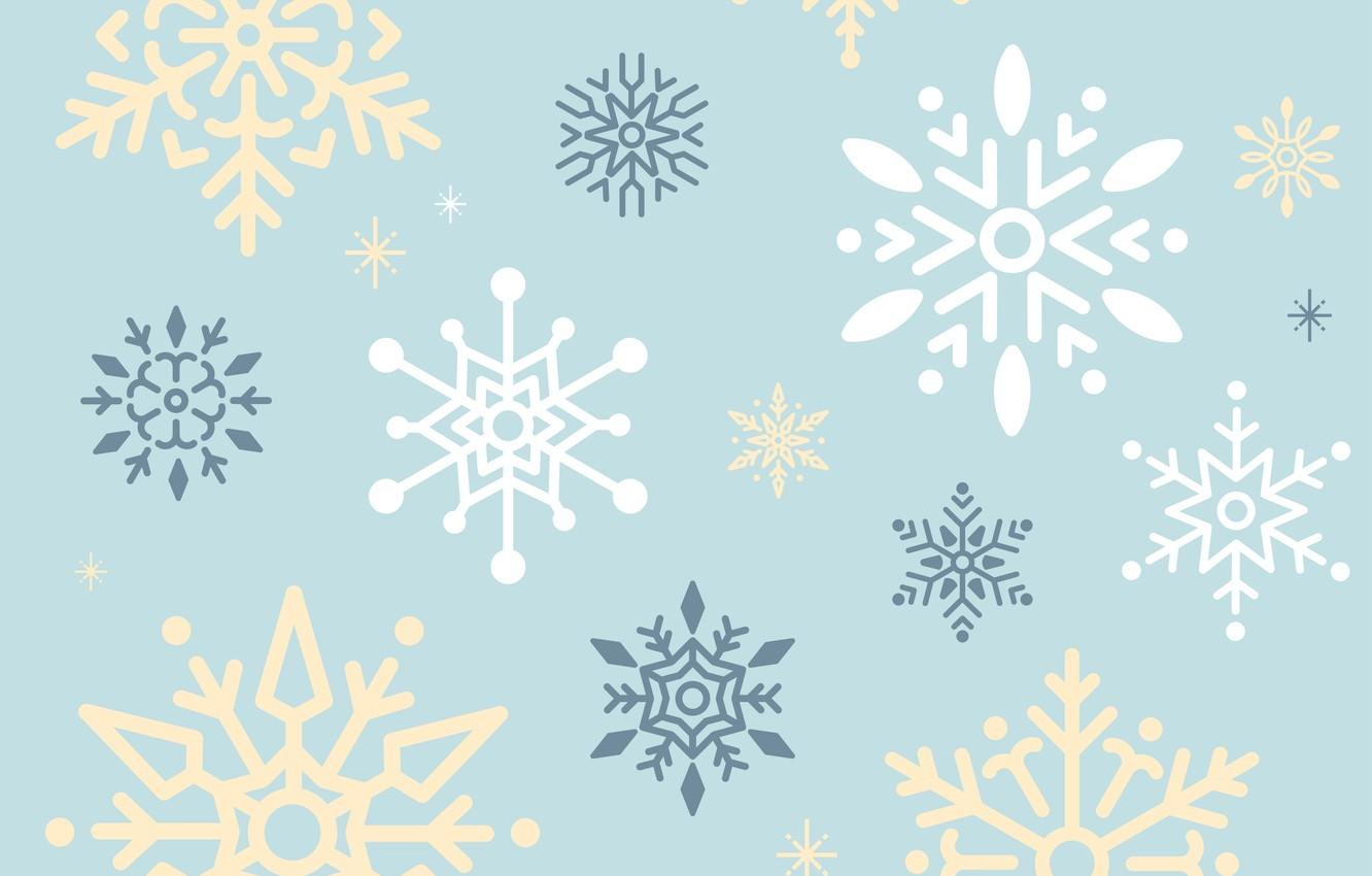 Photo wallpaper snowflakes, background, blue, vector, texture, design, background
