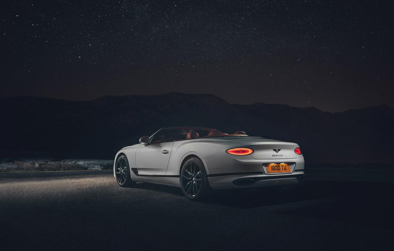 Photo wallpaper night, Bentley, Continental GT, rear view, Convertible, 2019