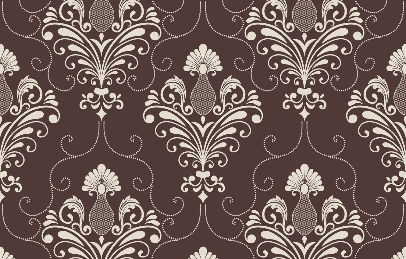Photo wallpaper background, brown, ornament, style, vintage, victorian