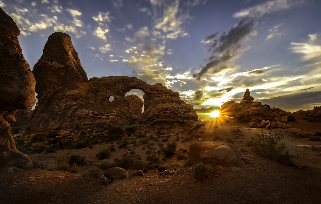 Wallpaper Sunset Utah Usa Arches National Park Images For