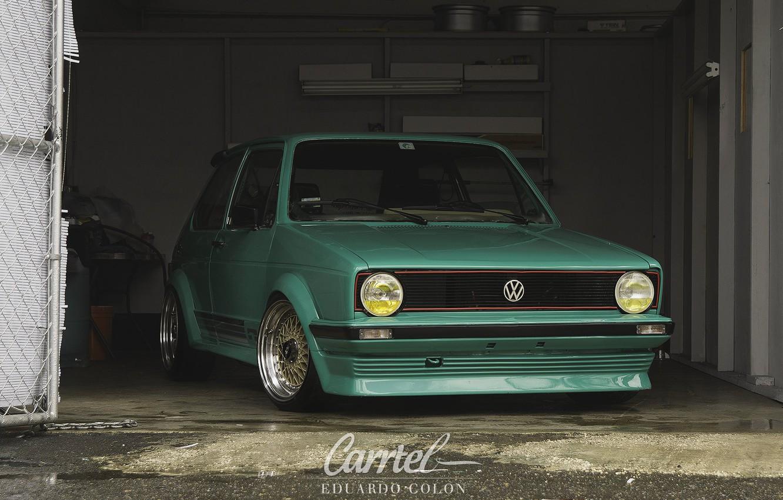 Photo wallpaper Volkswagen, Garage, Ghia, MK1, Caribe