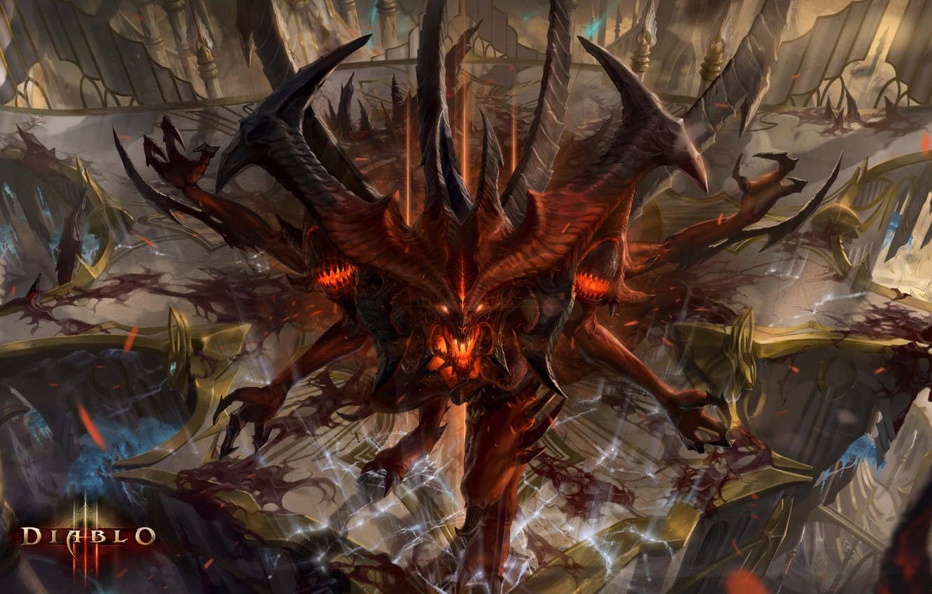 Wallpaper The Demon Blizzard Art Devil Diablo 3 Diablo