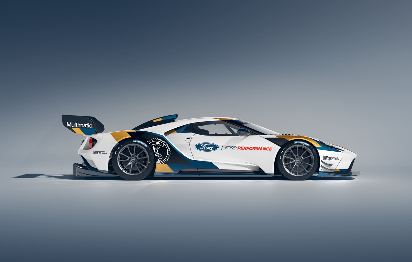 Photo wallpaper Ford, Ford GT, side view, Mk II, 2019