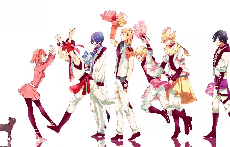 Photo wallpaper girl, group, guys, singing Prince, Uta no Prince-sama